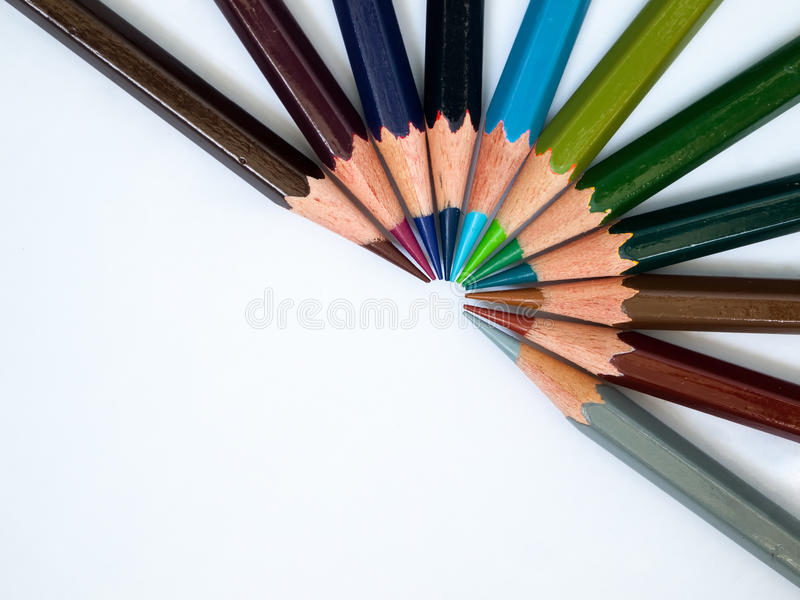 Cool Tone Color Pencil Stock Images