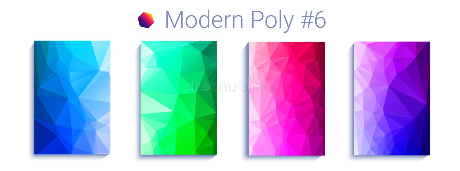Cool triangular gradient background. Modern abstract geometric pattern. Bright colorfull wallpaper. vector vector illustration
