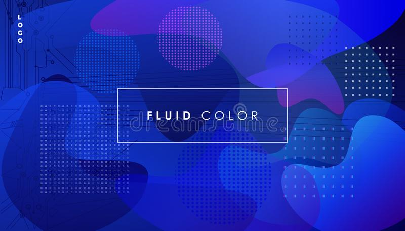 Cool ultraviolet gradients banner landing page Future geometric patterns Abstract fluid color bubbles Background Eps10 vector sign. Minimal covers design royalty free illustration