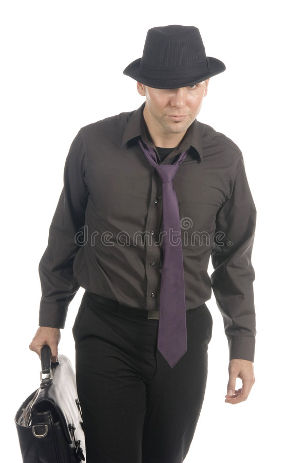 Cool under-cover agent stock photography