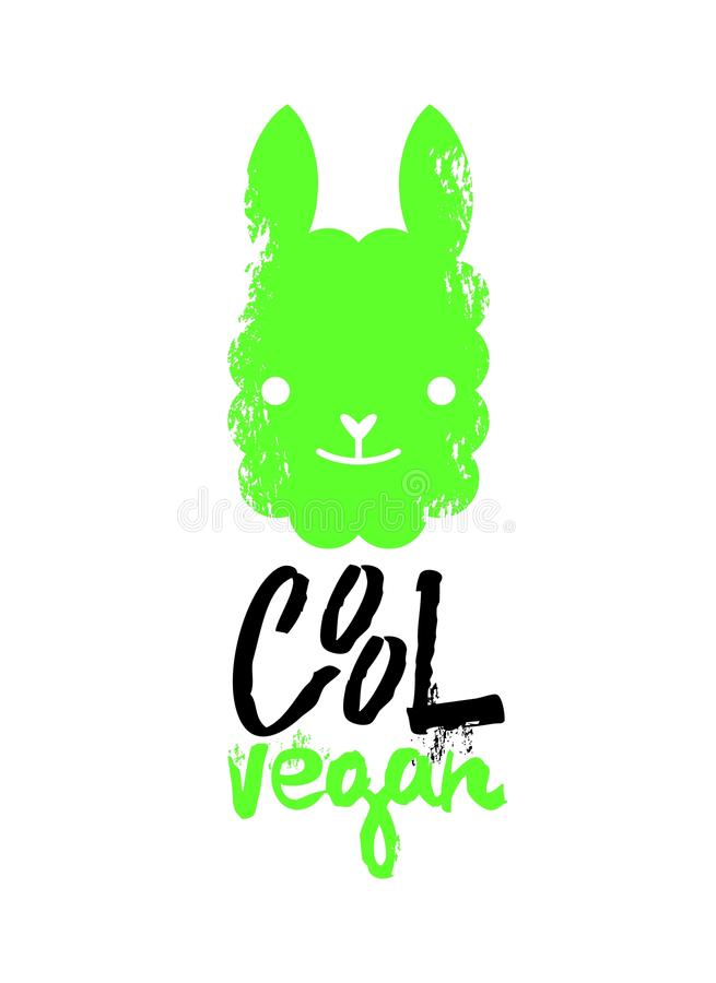 Cool vegan slogan graphic, with llama sign vector illustrations. For t-shirt print and other uses. vector illustration