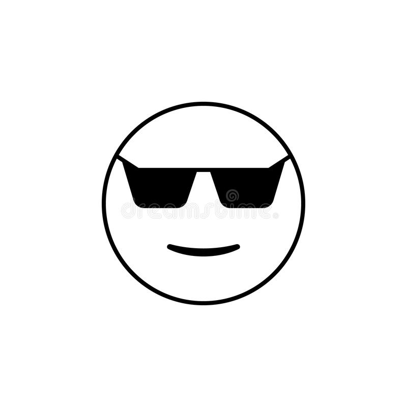 cool w okulary przeciwsłoneczni ikonie Szczegółowy set avatars zawód ikony Premii ilości kreskowy graficzny projekt Jeden kolekcj ilustracja wektor