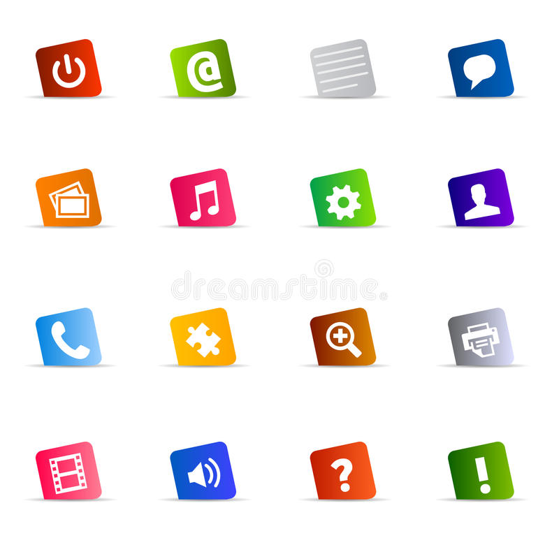 Download Cool web button set vector stock vector. Illustration of cool - 12587079