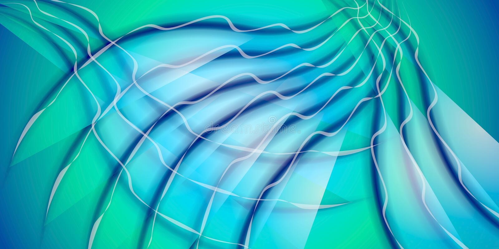 Cool Wispy Lines Pattern Blue royalty free stock photos