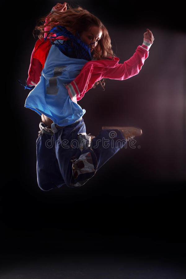 Cool woman modern dancer royalty free stock photography