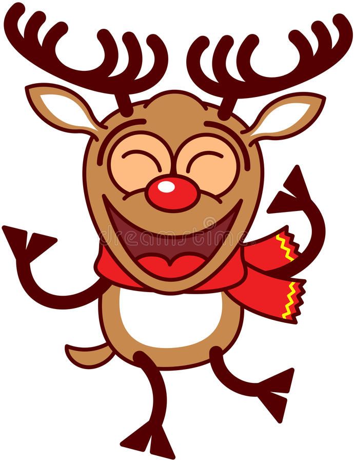 cool xmas reindeer dancing stock vector illustration of cute 46093840
