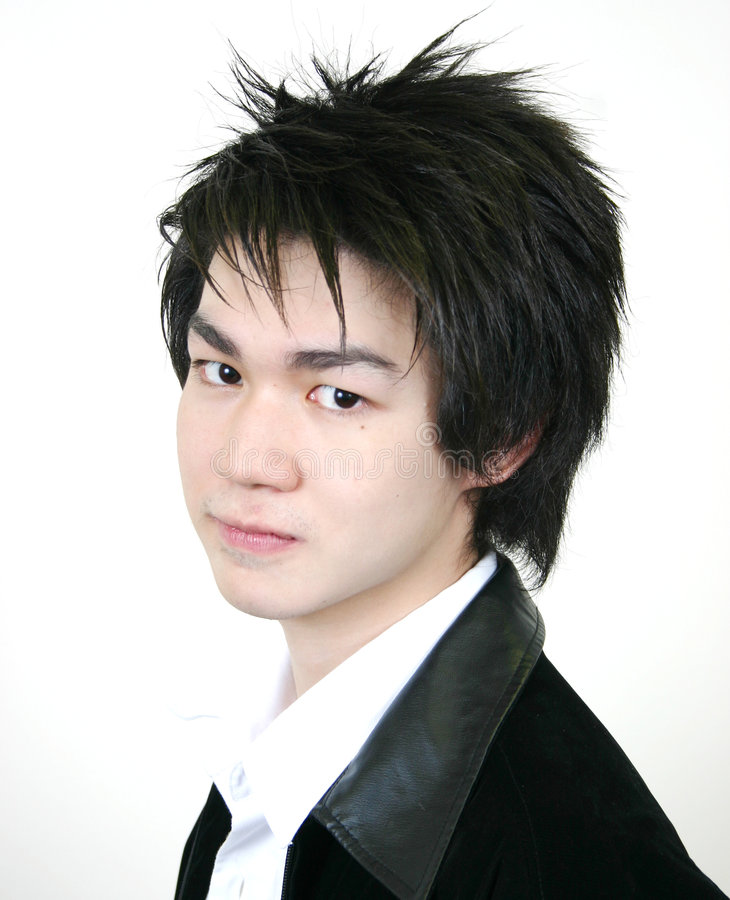 Cool young asian guy stock images