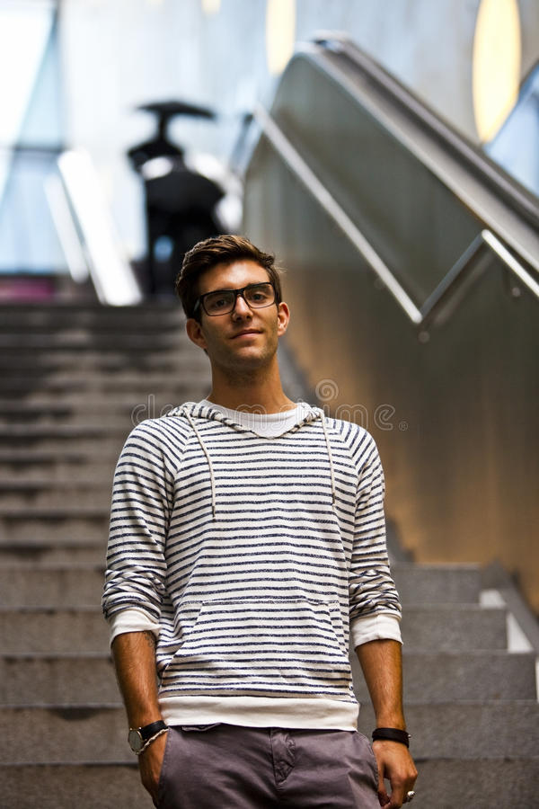 Download Cool Young Man In Front Of Urban Setting Stock Photo - Image: 22265434