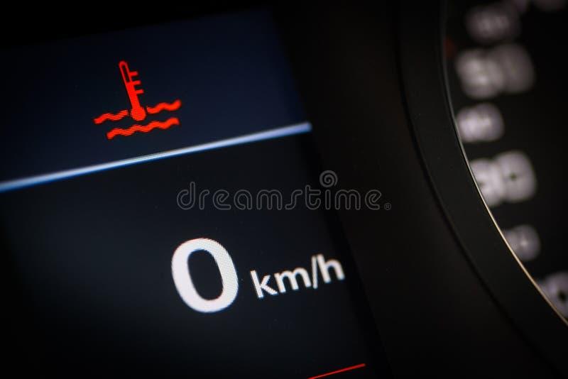 Coolant temperaturowy symbol w samochodzie obrazy royalty free