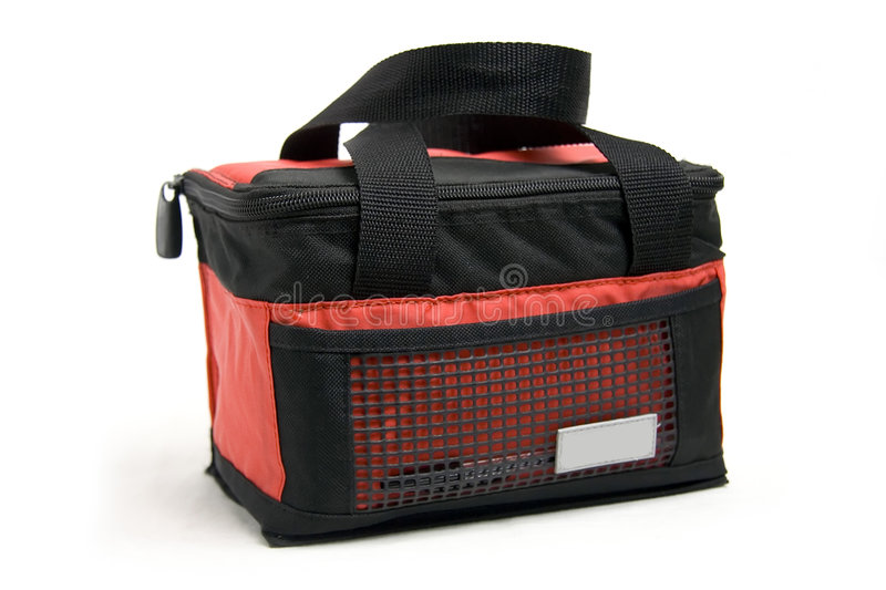 Cooler bag. On white background stock photography