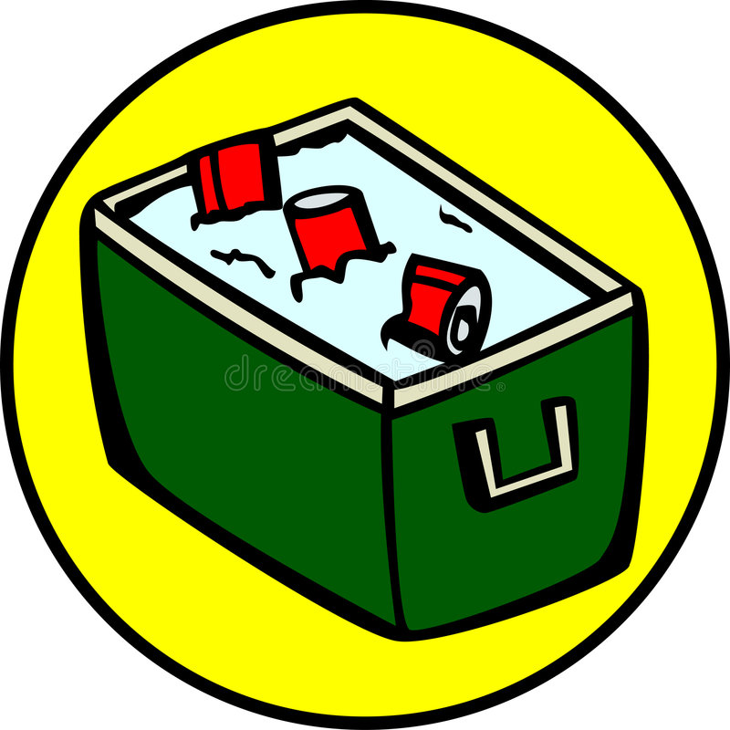 Download Cooler With Drinks, Cokes, Sodas Or Beer. Vector Stock Vector - Image: 1039342
