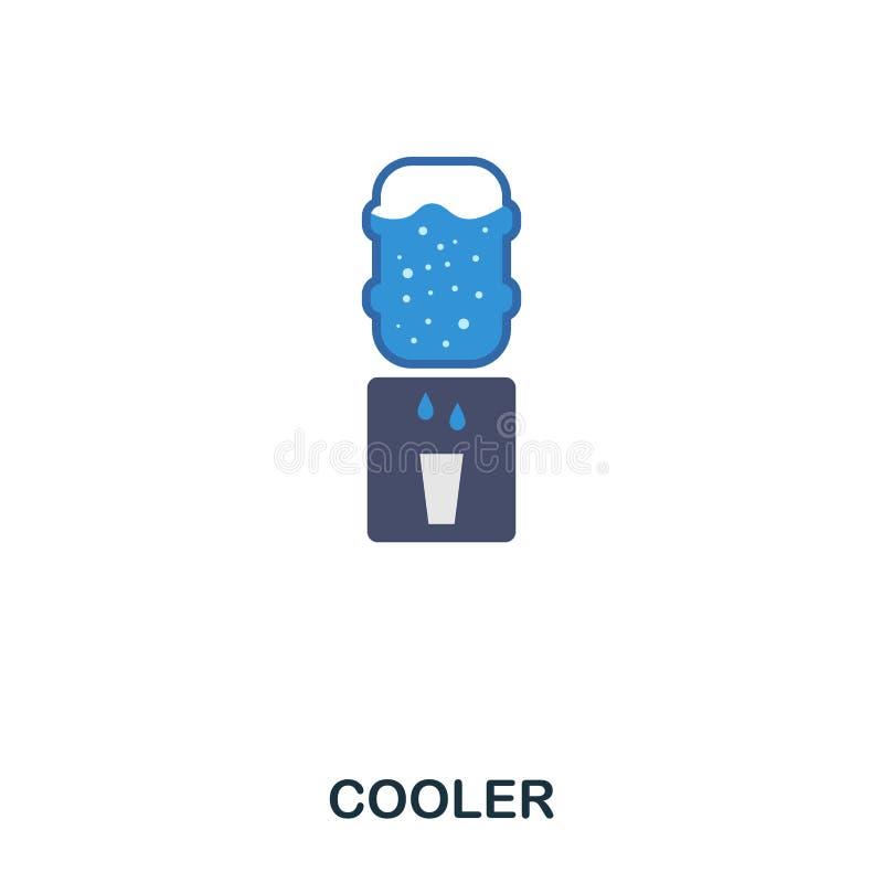 Cooler flat icon. Premium style flat icon design. UI. Illustration of cooler flat icon. Pictogram isolated on white. Ready to use vector illustration