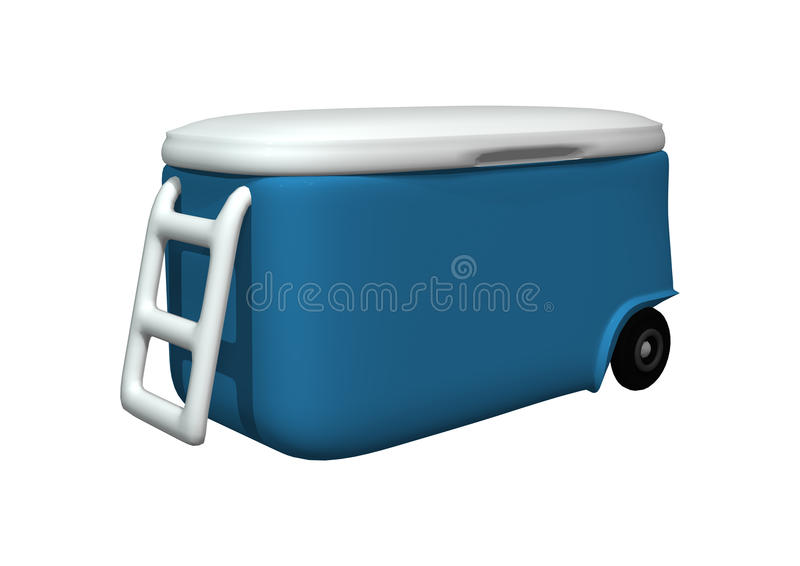 Cooler na bielu ilustracja wektor