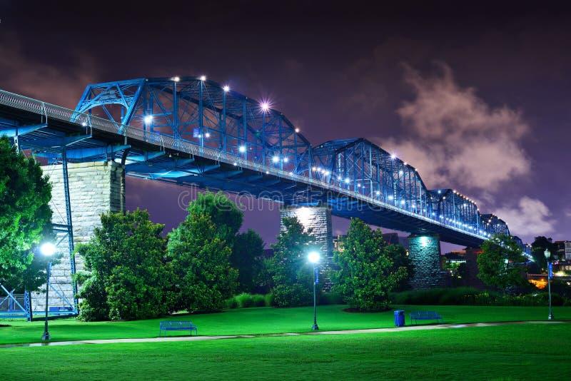 Coolidge-Park in Chattanooga lizenzfreies stockfoto