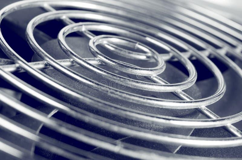 Cooling fan grill closeup photo stock photos