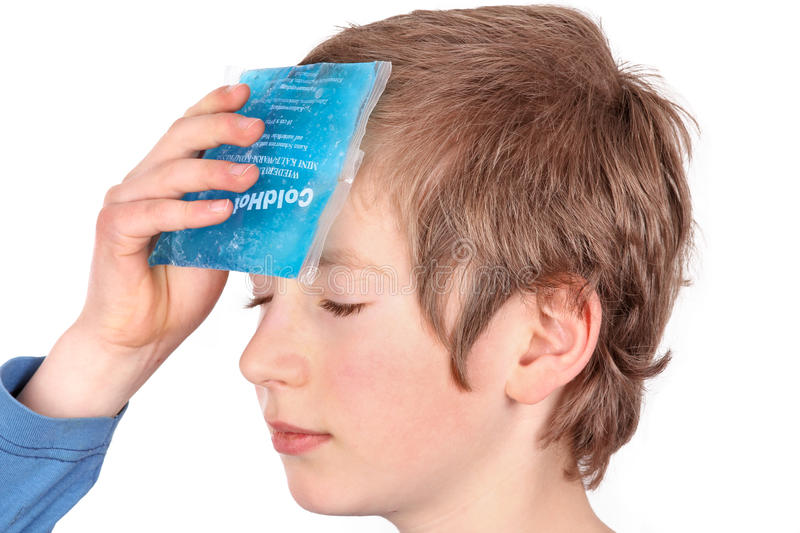 Cooling with ice pack royalty free stock photos