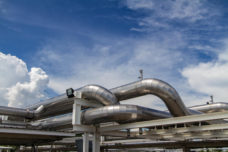 Cooling pipe. From industrial air system stock images