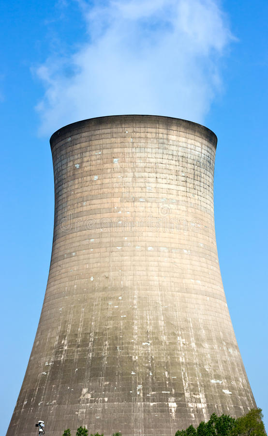 Free Cooling Tower At A Power Plant. Stock Images - 25034594