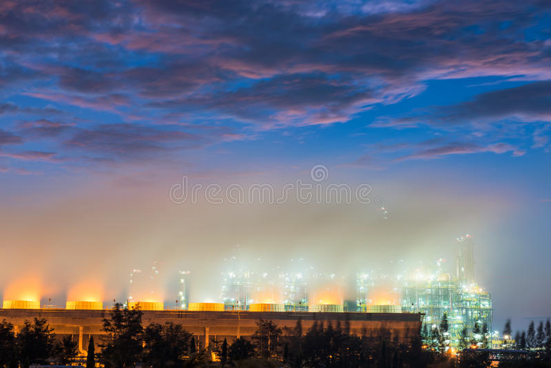 Cooling tower and cooling system of oil refinery plant royalty free stock images