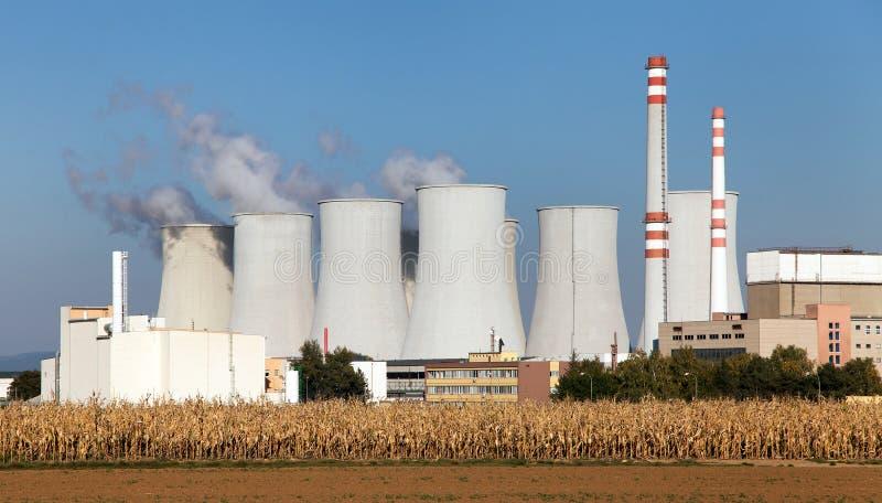 Cooling tower of Nuclear power plant. Jaslovske Bohunice - Slovakia stock image