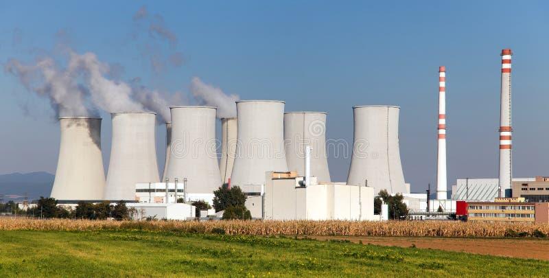 Cooling tower of Nuclear power plant. Jaslovske Bohunice - Slovakia royalty free stock image