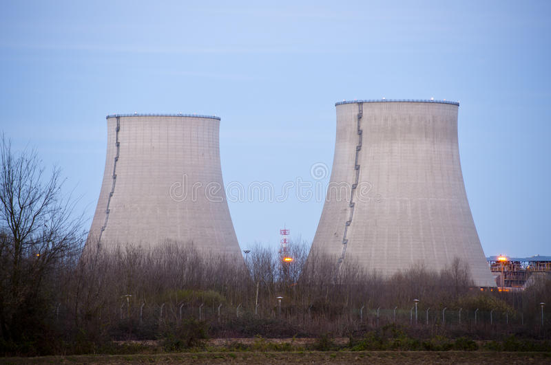 Download Cooling towers at dusk stock image. Image of radioactive - 18865771