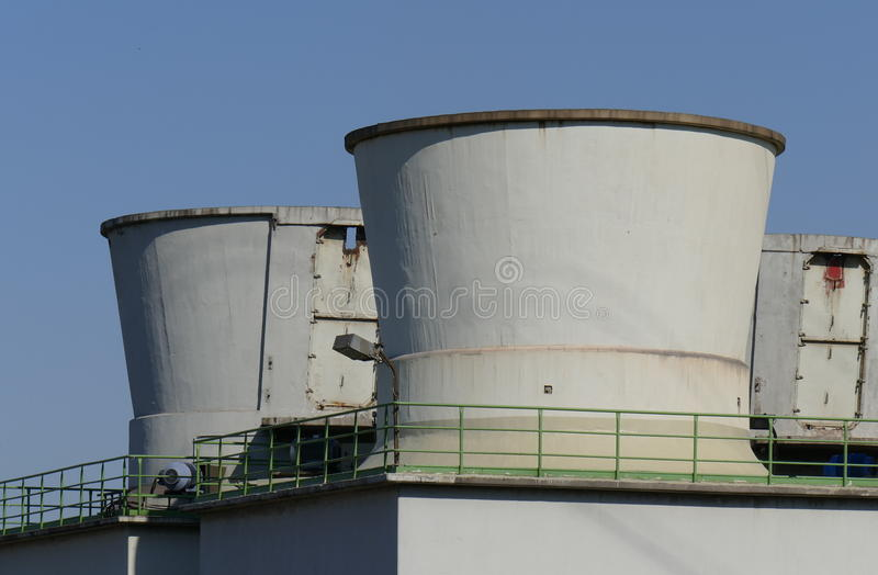 Cooling towers royalty free stock photography