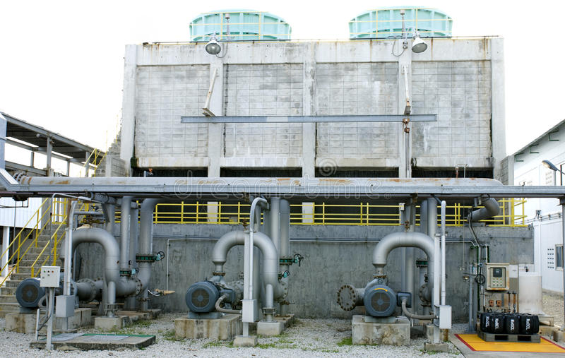 Cooling towers system royalty free stock photo