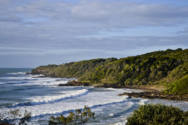 Coolum solskenkust, Queensland, Australien royaltyfri foto
