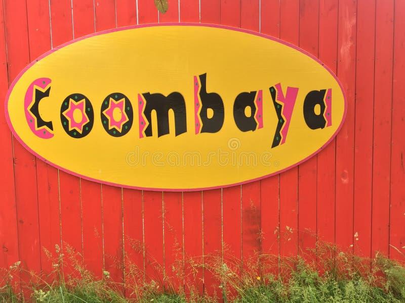 Coombaya,最凉快的嬉皮的商店在Coombs, BC 图库摄影
