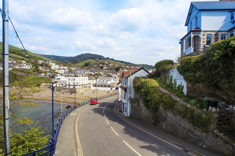 Coombe Martin Bay , Near Ilfracombe North Devon. Combe Martin is a village, civil parish and former manor on the North Devon coast about 4 miles (6.4 km) east of stock photos