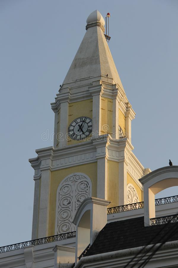 Clock Tower on Calvathy Road. Coonan Kurisu Bent CrossPalli Church or Holy Cross church - is a place of historical importance and faith for the believers. A royalty free stock photos