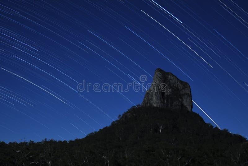 coonowrinmontering över stjärnor royaltyfri bild