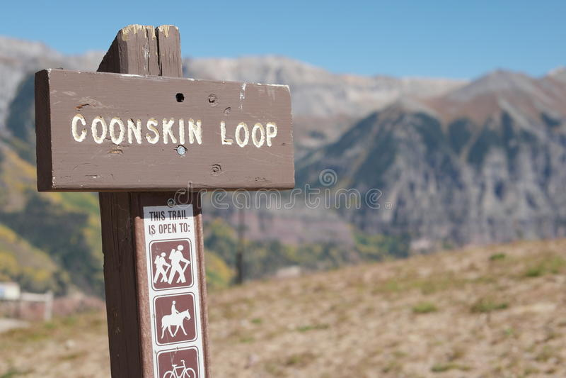 Coonskin圈,黑峡谷科罗拉多 免版税库存照片