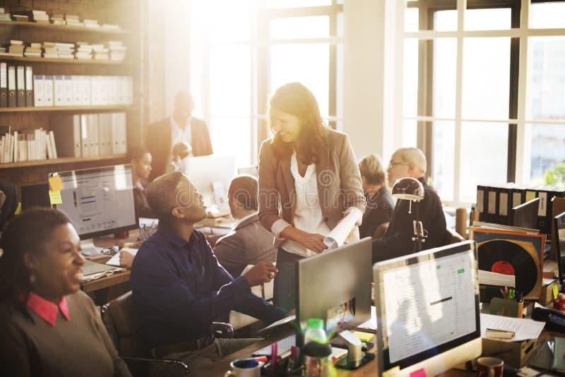 Coooperation Archievement pracy zespołowej Korporacyjny pojęcie obraz stock