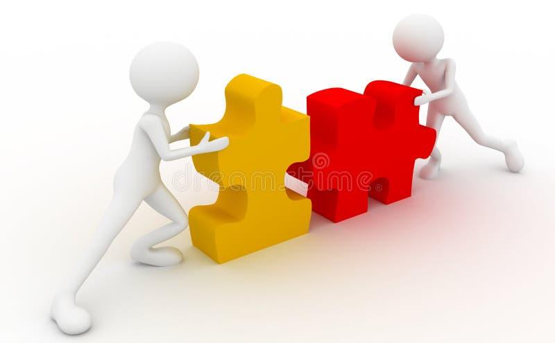 Coopération de puzzle illustration libre de droits