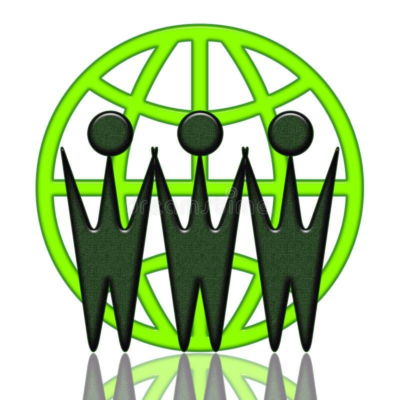 Coopération mondiale illustration de vecteur