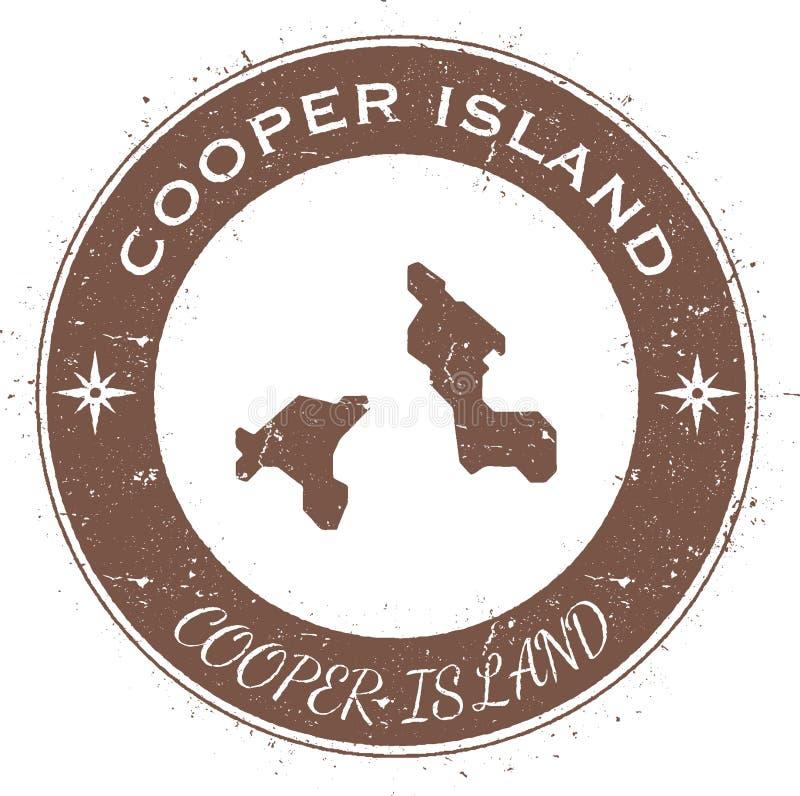 Cooper Island: Cooper Island Old Treasure Map. Stock Vector