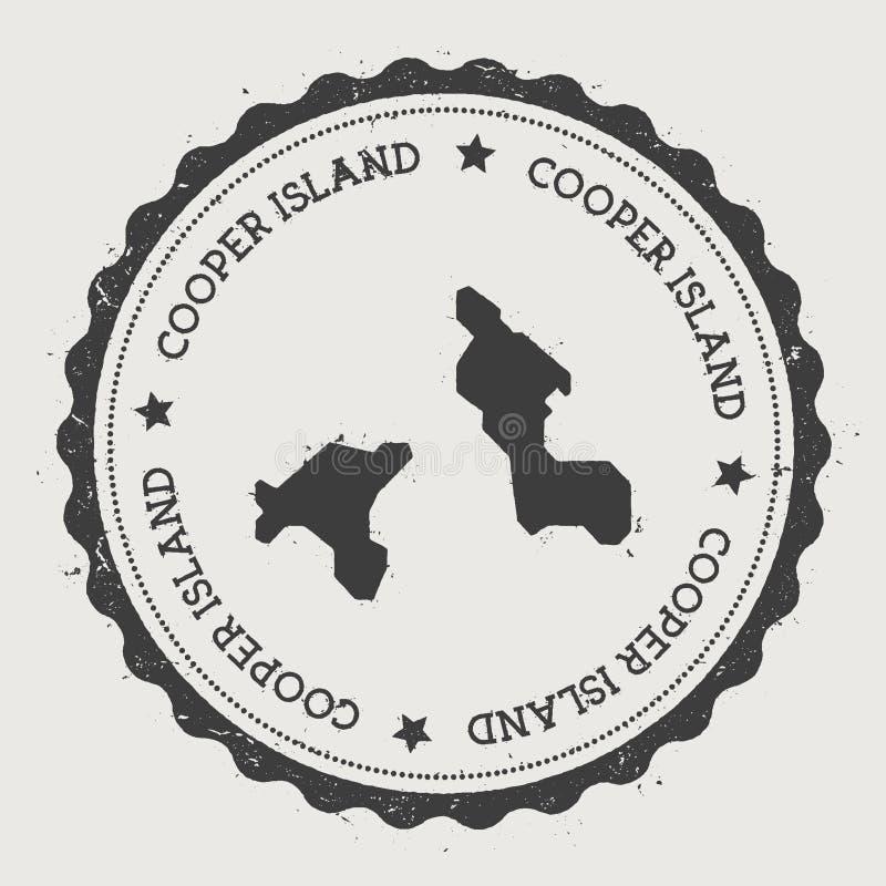 Cooper Island: Cooper Island Circular Patriotic Badge. Stock Vector