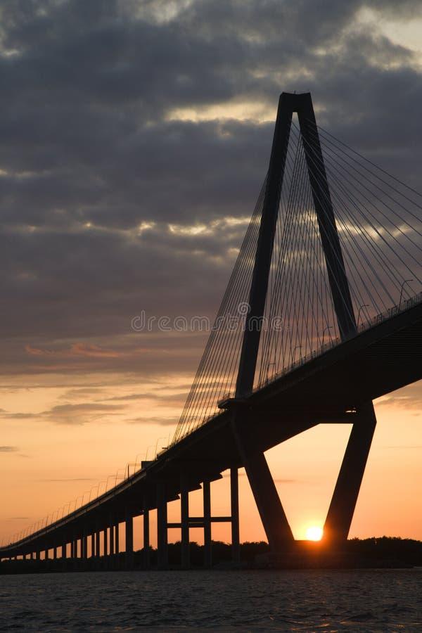 Cooper River Bridge. In Charleston, South Carolina royalty free stock photography