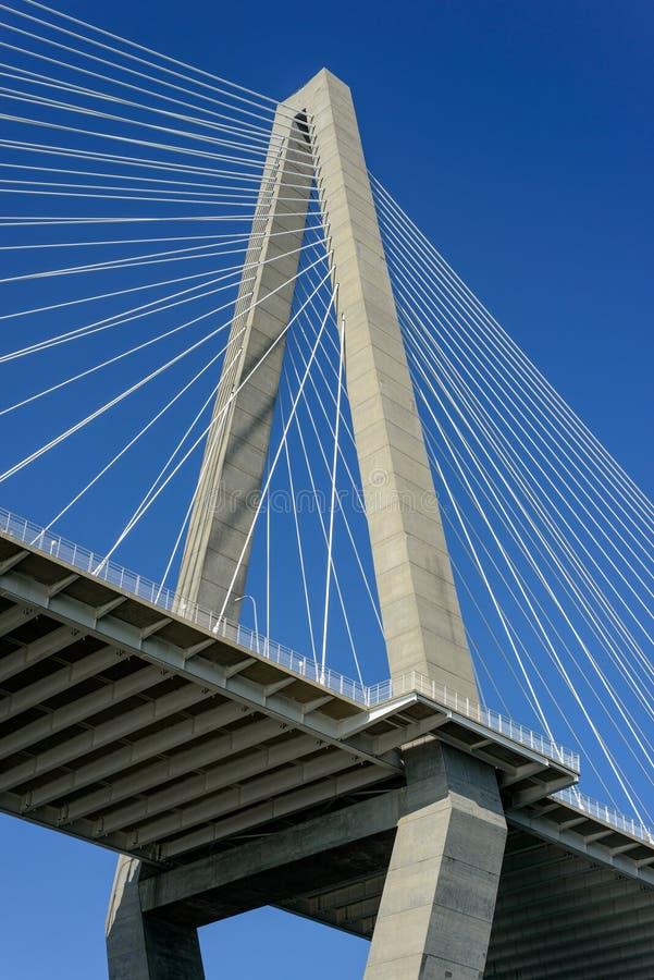 Cooper River Bridge Charleston South Carolina royalty free stock photos