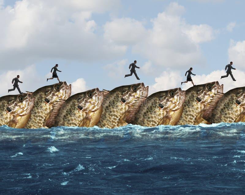 Cooperação do mercado ilustração do vetor