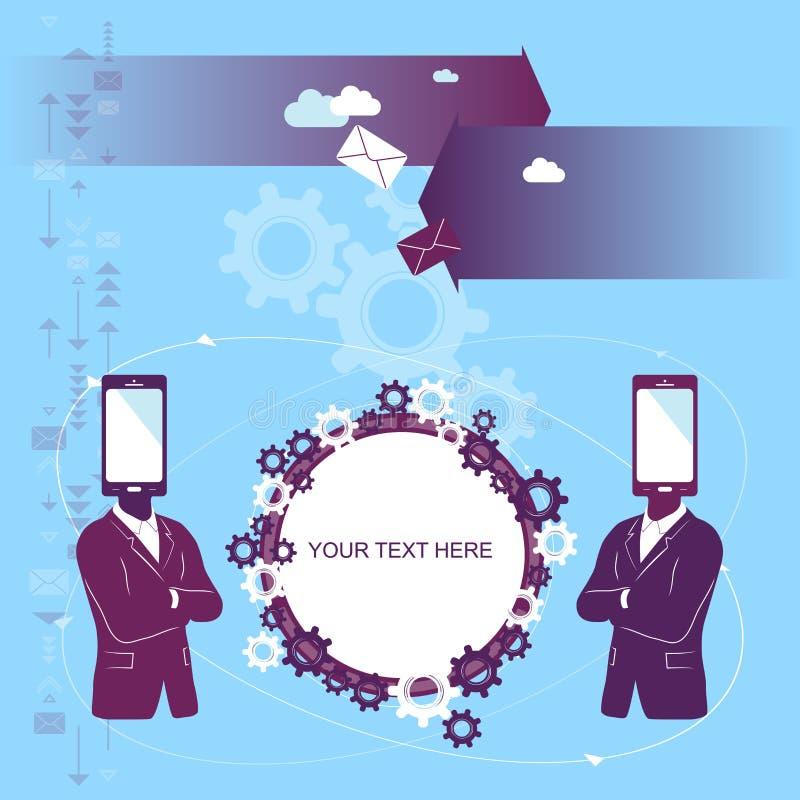 Cooperação do telefone ilustração stock