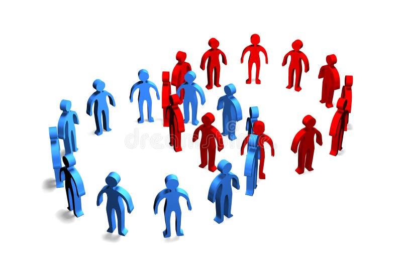 Cooperação dos empresários ilustração stock