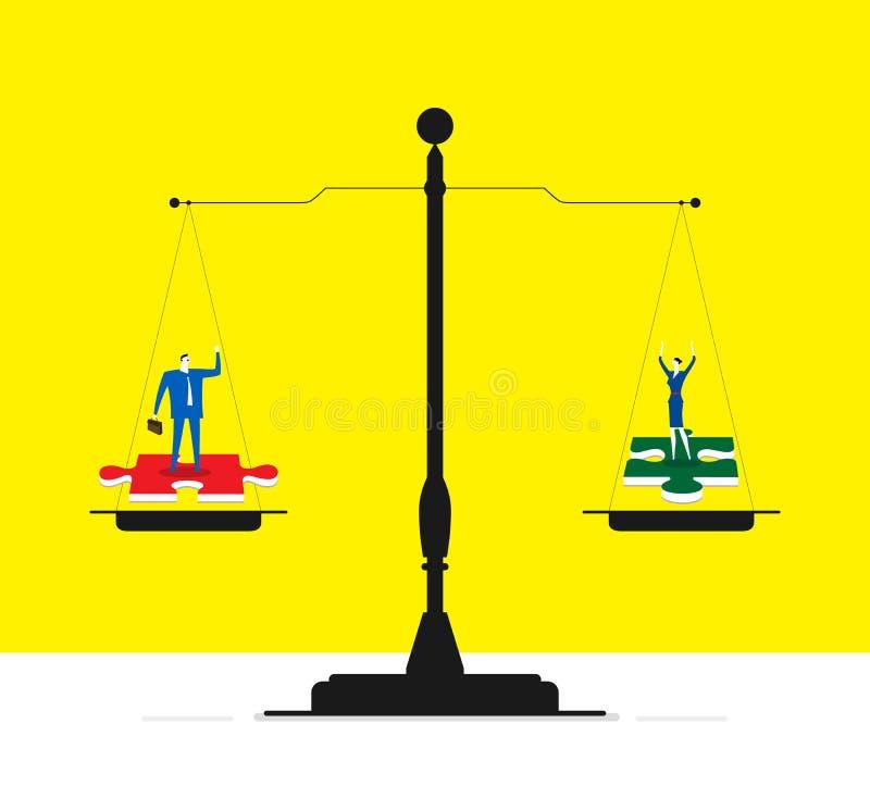 Cooperación justa libre illustration