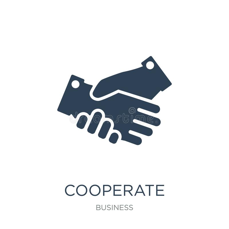 cooperate icon in trendy design style. cooperate icon isolated on white background. cooperate vector icon simple and modern flat royalty free illustration