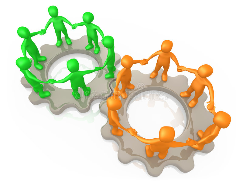 Download Cooperating Teams stock illustration. Image of team, assistance - 6358846