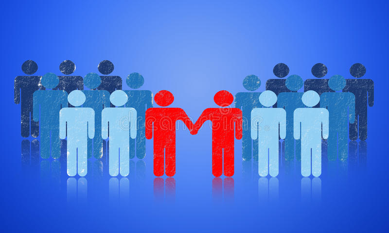 Download Cooperation stock illustration. Image of contract, equity - 22852704