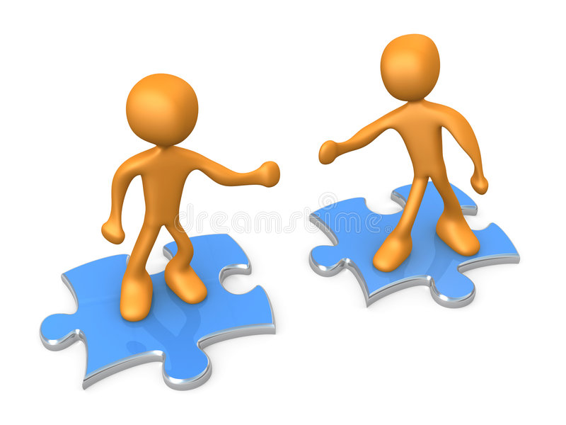 Download Cooperation stock illustration. Image of puzzle, solution - 5369211