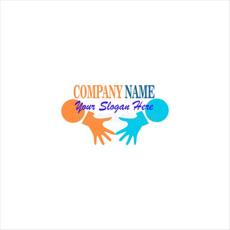 Cooperation Abstract Vector Sign Symbol or Logo Template. Hand Shake Incorporated Concept. Isolatedrint. Cooperation Abstract Vector Sign Symbol or Logo Template vector illustration